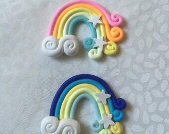 2pc Polymer Clay Rainbow!