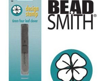 BeadSmith 6mm Four Leaf Clover Metal Stamp (LPSD60)