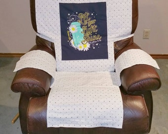 Recliner Chair Cover Protector Nearly Full Length T-shirt Design