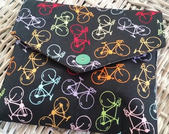 Tablet Bag (Rainbow Bicycles) (Art Supplies nor Tablet not Included)