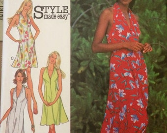 Misses' Halter Sundress Style Pattern 2726