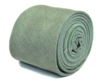 pale mint green linen tie by Frederick Thomas FT2163