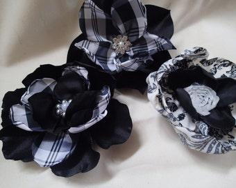 Handmde polyester flowers 3