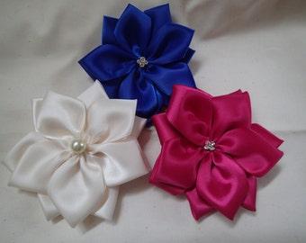 Polyester ribbon handmade flowers