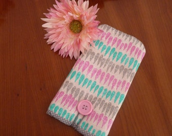 iPhone 7 Fabric Case / iPhone 7 Plus Case / iPhone SE Cover / iPhone 6s Pouch / Padded  iPhone 5 sleeve / iPod Touch case