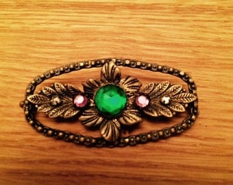 Unusual late Victorian Suffragette filigree brooch - Downton Abbey - The Great Gatsby - Bridal -