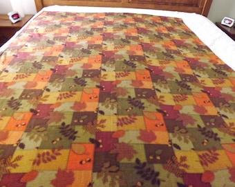 Fleece Blanket, Twin, Fall Patchwork