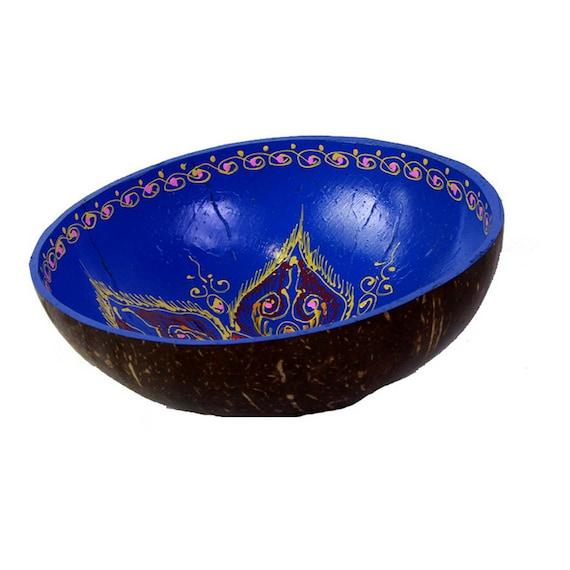Classic Oriental Decorative Multipurpose Handmade Coconut Shell Handcraft Bowl (PC 34)