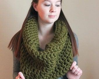 Chunky Crochet Cowl - Cilantro - The Ross Cowl
