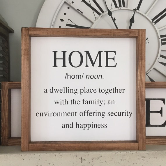 Decorative Signs For Your Home: Home Definition Wood Sign Home Wood Sign Wall Decor