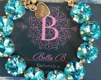 Bella B Swarovski Crystal Turquoise bracelet