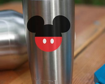 Mickey Mouse Vinyl Decal, Disney Sticker, Mickey Sticker, Yeti Vinyl Sticker, Yeti, Tumbler, Mickey Mouse, Disney, Car, Vinyl, Decal, Mickey