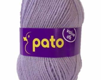 New! PATO Value  DK yarn, LILAC, 100% acrylic, 100g