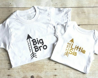 Personalized big brother, little sister shirts, sibling shirt, brother sister shirts