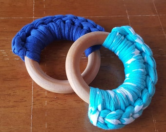 Natural wooden teether (2 pack)