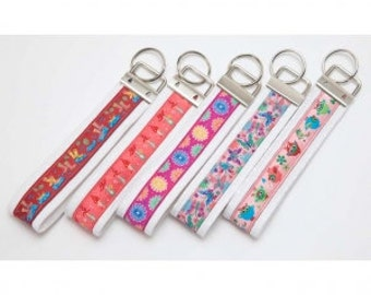 "1"" Key Fob and Split Rings by Riley Blake Designs- Package of 5 Key Fobs"