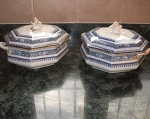 "Keeling & Co Losol Ware ""Ormonde"" 2 x Tureens/covered vegetable dishes"