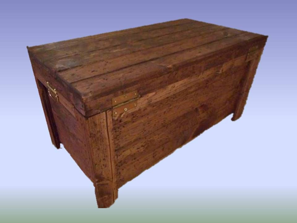 Wood Hope Chest Coffee Table Blanket Storage Chest Knotty Pine Toy Box