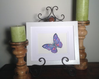 Originial Butterfly Watercolor Painting