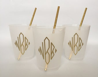 Personalized 16 oz Frost Flex Cups with Image - set of 50