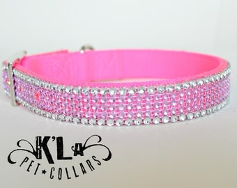 Pink and Silver Dog Collar