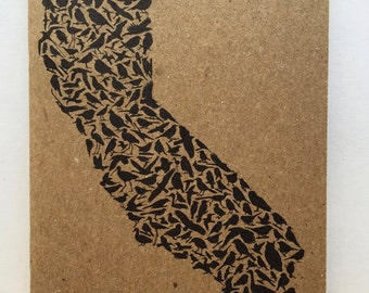 California Birds blank notebook
