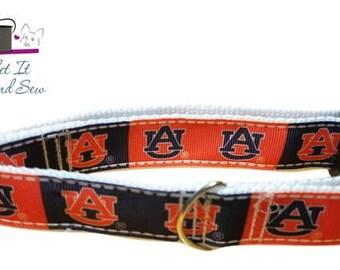 """1"""", 1.5"""" or 2"""" Auburn Tigers Dog Collar or 1"""" Key FOB"""