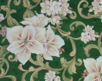 Fabric Fat Quarter – Gentle Grace - Danhui Nai - South Sea Imports -  Flowers - Green - FQ
