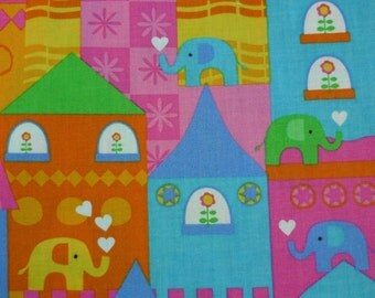 Elephants on Parade – Timeless Treasures – Quilting Patchwork Fabric FQ