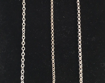 Sterling Silver Chains, Custom Order. All Soldered, Includes Sterling Clasp and Findings, Perfect for your pendant or mine. Can Be Oxidized