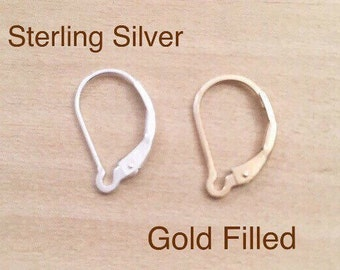 Interchangeable Lever Backs in Sterling Silver and Gold Filled, Fits  All Shalom Jewelry Earring Charms and Dangles, Changable Lever Backs