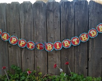 Dumbo banner, first birthday banner party, circus, Carnival