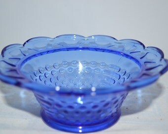 Cobalt bowl / bowl / blue bowl / cobalt blue bowl / hobnail bowl / hobnail blue bowl / serving bowl / condiment bowl / candy bowl / blue