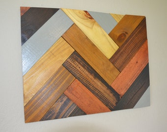 Multi-colored wood wall art