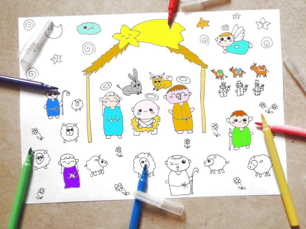 Cij Presepe Nativita Album Colorare Bambini Carini Kawaii
