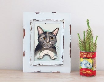 Cat CUSTOM Pet Portrait Illustration Watercolor