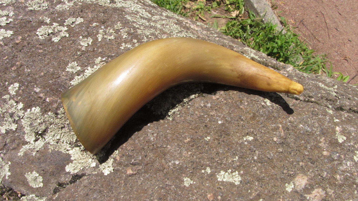 Curved Vintage drinking horn, Game of Thrones gift, Georgian traditional wine dr