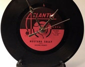 """Recycled WILSON PICKETT 7"""" Record • Mustang Sally • Record Clock"""