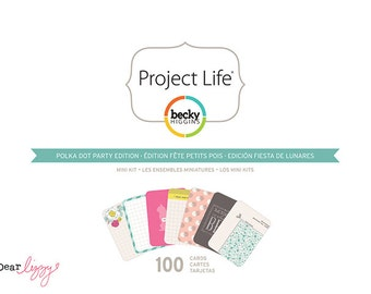 SALE! Polka Dot Party - Dear Lizzy Edition - Project Life Mini Kit  (380182)