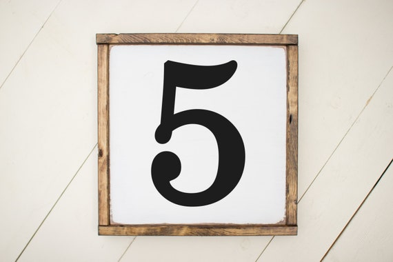 Wood number sign home decor - Decorative house number signs ...