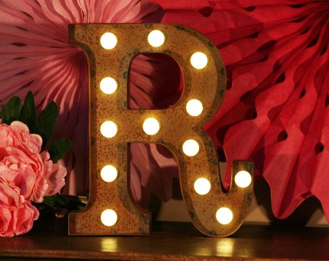 Vintage Carnival Style Light up Letter R