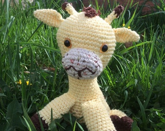 Handmade crochet stuffed animal, Giraffe