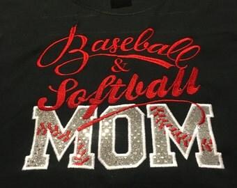 Baseball softball mom shirt