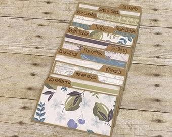 4x6 Recipe Card Dividers