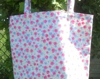 Flower shopping bag. Beach, Picnic, Gym.