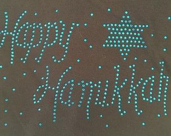 Rhinestone Holiday Hanukkah Shirts, Aprons and Onesies