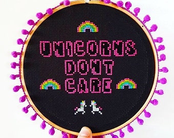 Cross Stitch Kit ***Unicorn's don't care***