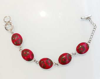 Christmas Jewelry - Hand Sculpted Polymer Clay Bracelet