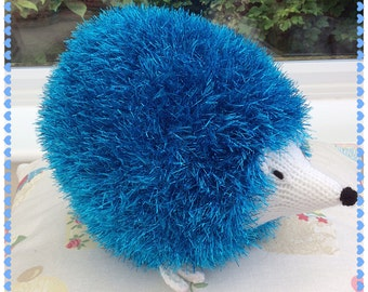 Sparkly Hedgehog Knitting Pattern : Knit hedgehog Etsy
