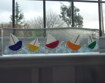 Fused glass yachts